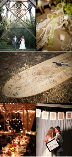 "surfboard ""guestbook"" for beach wedding"