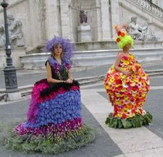 Dresses made from flowers-don't move!