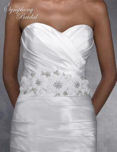 Symphony Bridal Floral Wedding Dress Sash BLT29 - beautiful for Spring or Summer! affordableelegancebridal.com