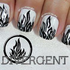 cupcakenailarts divergent movie #nail #nails #nailart