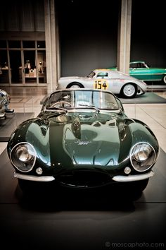 #racinggreen 1957 #Jaguar XK-SS Roadster, No. 713   #Steve #McQueen's car