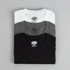 Dickies T Shirt Pack Of Three Assorted Colours | Flatspot