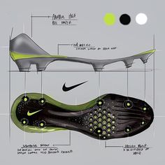 Thesis work - My favorite of the most recent round of concepts. The idea is that if the cleat has a full layer of EVA for support on artificial surfaces it will need a strong support in the bridge to maintain stiffness for a quick first step. Put in a little hex pattern to lighten up the cleat plate / increase strength - whatever pattern used there would also be used on the upper.