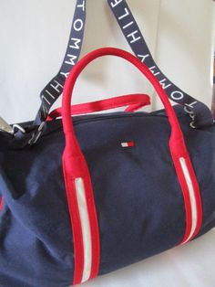 7ad2dfcd4b6e Tommy Hilfiger Duffel bag vintage handle shoulder detach strap Clean rarely  used
