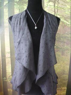 Black romantic ruffles top / shirt / blouse by Avalon designs on Etsy