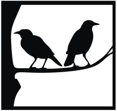 Crow Silhouette, Silhouette Images, Animal Silhouette, Halloween Silhouettes, Stencil Patterns, Bird Patterns, Vector Pattern, Bird Art, Paper Cutting
