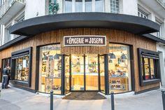 L'épicerie de JOSEPH à Rennes - Architecture par l'agence LABEL ETUDES Store Fronts, Office Ideas, Joseph, Broadway Shows, Architecture, Bakery Shops, Rennes, Arquitetura, Desk Ideas