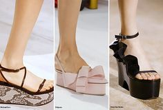 Spring/ Summer 2016 Shoe Trends: Flatforms  #shoes #trends #SS16