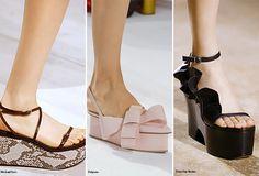 Spring/ Summer 2016 Shoe Trends: Flatforms  #shoes #trends #SS16
