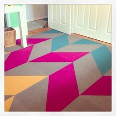 Buy Made You Look-Tangerine carpet tile by FLOR