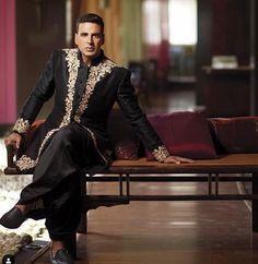 Akashay kumar in an embroidreed kurta and dhoti Mens Sherwani, Lehenga, Formal, Style, Fashion, Preppy, Swag, Moda, Fashion Styles
