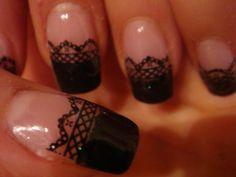 Lacy nail art always looks impressive.