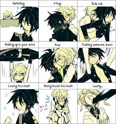 In a releationship Mika and yuu yaoi owari no seraph / seraph of the end