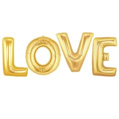 Love Balloon Kit  Gold  Foil Balloon  For Any Party by pingosdoceu