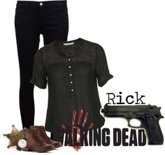 """""""Rick (the walking dead)"""" by strawberryapricotpie ❤ liked on Polyvore"""