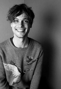 Matthew Gray Gubler - sweaters and cats and mismatched socks