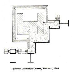 dominion centre - tornonto - mies van der rohe - corner detail