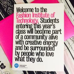 Fashion Institute Of Technology Acceptance Letter