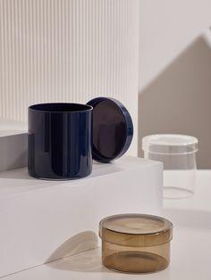 COS × HAY - stunning display of glass jars. Hay Design, Kitchenware, Tableware, Best Fragrances, Ceramic Plates, Minimal Design, Glass Design, Jewellery Display, Home Decor Items