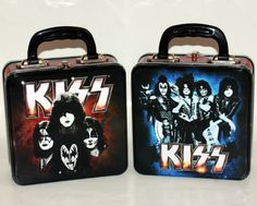 KISS Hard Rock Heavy Metal Band 7 x 9 SQUARE TIN TOTE LUNCH SNACK WORK BOX New