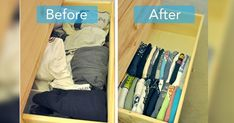 Try these genius ways to fold clothes and save major space. Each item of clothing has the most efficient way of folding it. Try these genius ways to fold clothes and save major space. Each item of clothing has the most efficient way of folding it. How To Fold Hoodies, How To Fold Jeans, Diy Clothes Videos, Fold Clothes, Folding Jeans, Dresser In Closet, Diy Clothes Refashion, Packing To Move, Crochet For Beginners Blanket