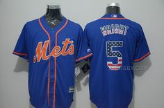 http://www.xjersey.com/mets-5-david-wright-blue-us-flag-new-cool-base-jersey.html METS 5 DAVID WRIGHT BLUE US FLAG NEW COOL BASE JERSEY Only $43.00 , Free Shipping!