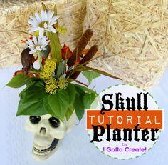 I Gotta Create!: Skull Planter Tutorial