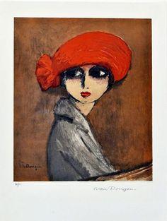 View Le Coquelicot By Kees Van Dongen; x 38 cm; Access more artwork lots and estimated & realized auction prices on MutualArt. National Gallery Of Art, Matisse, Art Altéré, L'art Du Portrait, Dutch Artists, Art Moderne, Watercolor Sketch, Vintage Artwork, Figurative Art