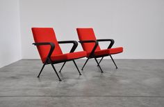 Friso Kramer Repose chairs set of 2, Ahrend 1959