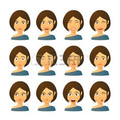 Ensemble isol� des expressions avatar femmes photo