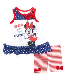 ff26fc1ef5ba Love this Navy   Red Minnie Tank   Shorts - Infant by Mickey Mouse   Minnie  Mouse on