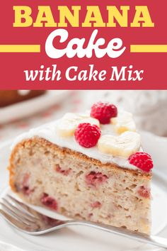 This banana cake with cake mix is the perfect shortcut to your favorite treat! With just 5 ingredients for the cake and 4 for the frosting, this recipe couldn't be any easier! Cake Mixes, Cake Mix Recipes, Easy Recipes, Banana Cake Mix, Banana Cakes, Baby Cakes, Cupcake Cakes, Cupcakes, Cream Cake