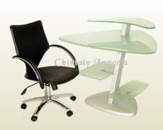 Chintaly Imports 6913-0649-SET Frosted Glass Computer Desk with Arm Chair Set by Chintaly Imports. $728.00. Frosted Glass Computer Desk with Arm Chair Set by Chintaly Imports 6913-0649-SET. Please refer to the Specifications to determine what items are included since sometimes the image shows more or less items. If you are not sure, please contact us and our customer service will be glad to help.