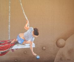 The Little Prince ~ The Day & Night series * oil painting on burlap * Greece * Barbara Gerodimou