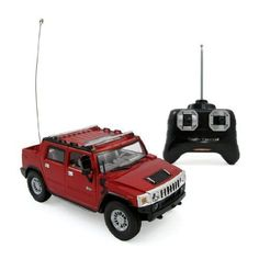 """Hummer H2 SUT Full Function R/C Radio Remote Control Car 1:24 Scale (Red or Blue) by GK Toys. $17.95. Working Headlights and Taillights. Full Function Radio Controlled; Forward, Reverse, Stop, Left & Right Steering. Officially Licensed Hummer Car. 1/24 Scale, Approximately 6"""" Long. Detailed Interior & Exterior. Introducing the all new Hummer H2 SUT Radio Control Car. Full Function Radio Controlled; Forward, Reverse, Stop, Left & Right Steering. Detailed Interior and ... #radiocontrolledcars"""