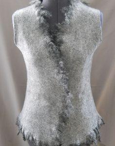 """Купить Жилет валяный""""Эко-стиль"""" - одежда, валяный жилет, жилет, женская одежда, нуно-войлок"""
