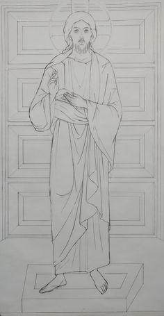 Religious Images, Religious Icons, Religious Art, Jesus Drawings, Religion Catolica, Jesus Painting, Byzantine Icons, Church Banners, Catholic Art