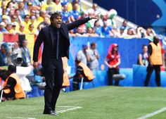 Antonio Conte head coach of Italy reacts during the UEFA EURO 2016 Group E match between Italy and Sweden at Stadium Municipal on June 17, 2016 in Toulouse, France.