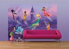AG Design Fotobehang Disney Fairies in London FTDS1925 | AG Design Kids | www.behangwereld.nl