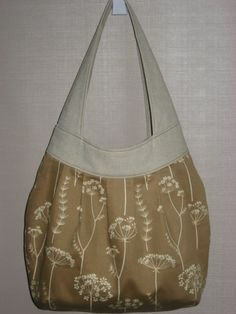 Tan and Cream Queen Anne's Lace Birdie Sling Extra by BAGSbyMartha, $60.00