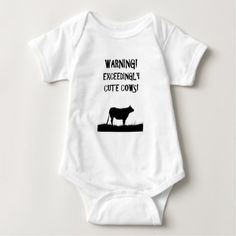 #cute #baby #bodysuits - #Warning - Exceedingly cute cows. Baby Bodysuit