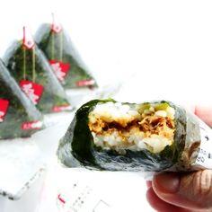Triangle Kimbap, a popular Korean Snack, homemade.
