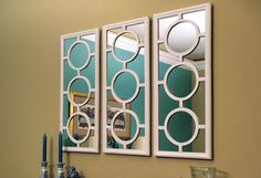 Design your own overlays to make decorative mirrors DIY tutorial