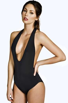 Evelyn Deep Plunge Racer Back Slinky Body alternative image