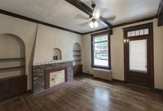 The family room with mantle, built-ins and exposed beams is another great place to relax with friends Stone Mansion, Washington Street, Exposed Beams, Built Ins, Renting A House, Mantle, Great Places, Family Room, Relax