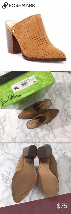 Sam Edelman Bates perforated mule booties New in box! Perfect for all seasons!! Suede perforated mule booties. Fits TTS. Reasonable offers welcome. Note: 20% off 2 or more items from my closet. Sam Edelman Shoes Ankle Boots & Booties