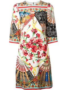 Shop Dolce & Gabbana Sicilian folklore print dress in Verso from the world's best independent boutiques at farfetch.com. Over 1000 designers from 300 boutiques in one website.