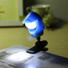 LED Mini Eye Protection Reading Night Light Table Lamp With Clip