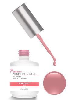 LeChat Perfect Match DUAL SET Soak Off Gel Polish and Dare to Wear Nail Lacquer - Pink Daisy - PMS05 Lechat Nail Care http://www.amazon.com/dp/B004V4CAA4/ref=cm_sw_r_pi_dp_5.Nzvb0WAC5BF