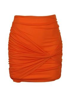 Boulee Womens Rust Orange Ty Ruched Knot Front Mini Skirt Boulee. $79.00